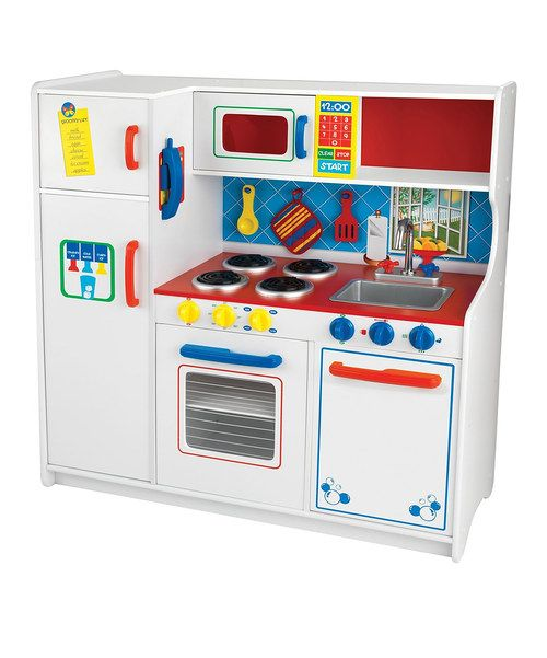 Cooking cuties explore the captivating culinary world with this interactive play kitchen. Featuring fridge, oven and microwave doors that open and close; a removable sink that allows for quick cleaning; and appliances with knobs that turn and click realistically, this colorful kitchen is so roomy, multiple bitty bakers can create and cook at once! Bon appétit!Assembled: 42.25