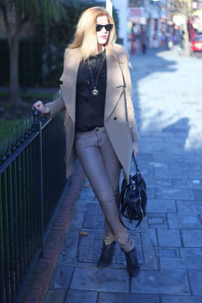 All Saints Leather Trousers