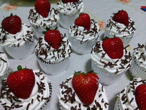Cakes de morango