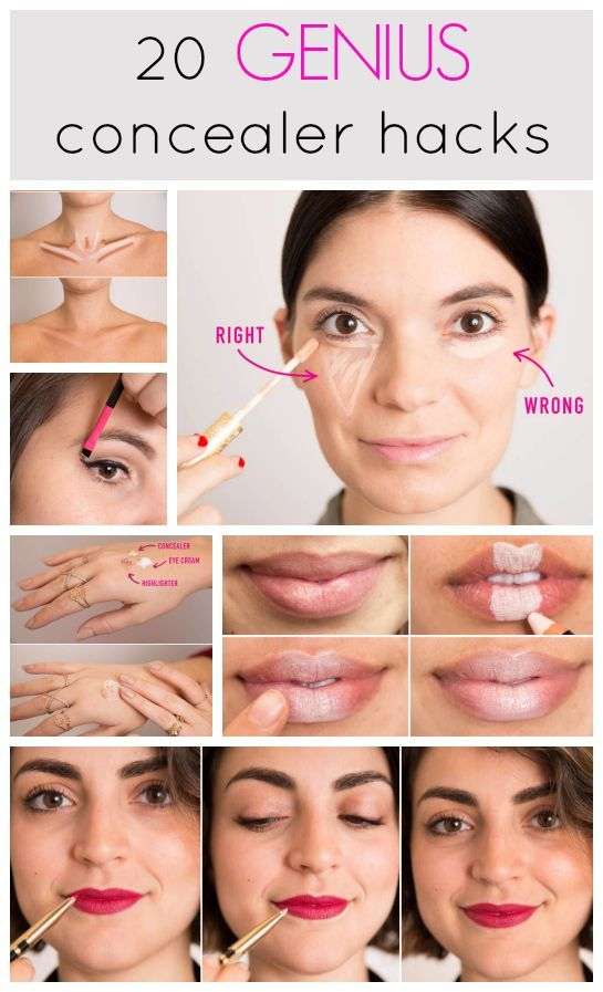 tricks shaping with concealer 20 genius concealer hacks that 39 ll  change your whole makeup routine. Makeup Concealer Tricks   Makeup Vidalondon