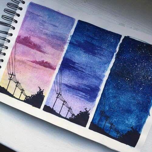 imagen de art drawing and sky art painting galaxy painting art pinterest