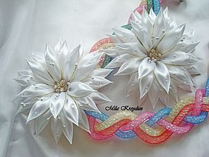 Собираем простой цветочек из ленты - Ярмарка Мастеров - ручная работа, handmade