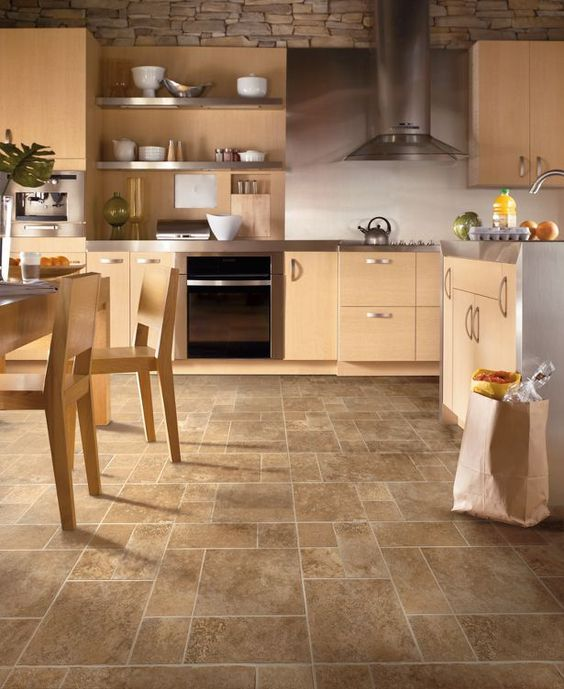 new gate castle - trader spice. vinyl flooring is great for