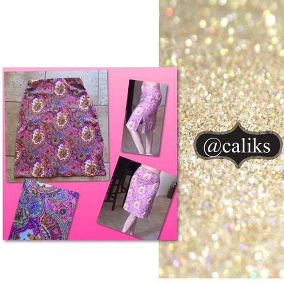 Pink Pasley boho skirt! Form fitting Pink Pasley boho skirt! Says small, but I think it would fit an extra small better! Skirts