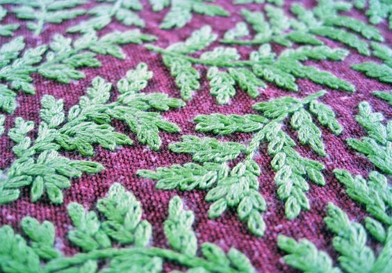 Fern embroidery stitchery pinterest and ferns