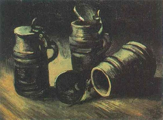 Vincent van Gogh. Beer Tankards. Nuenen: Sept-mid-Oct 1885