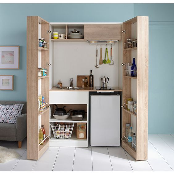 How To Make The Best Of Your Kitchenette: Kitchenette Nomade - CASTORAMA