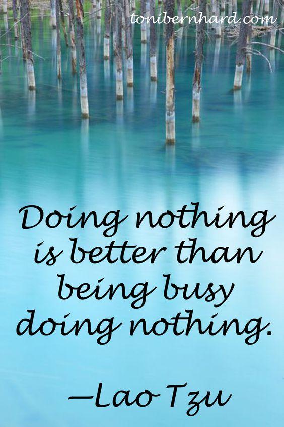 Ne rien faire
