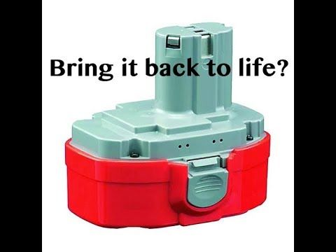 Can You Regenerate A Dead Power Tool Battery Youtube Power Tool Batteries Battery Hacks Power Tool Battery