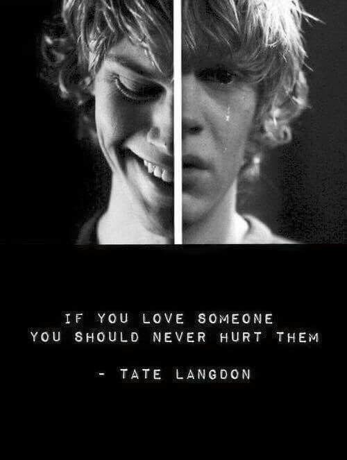 Tate Langdon quote | Series | Pinterest | Devil, My ...