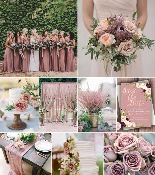 Dusty Rose Fargtema Pa Brollop Dusty Rose Color Theme Wedding Inspo Springwedding Dusty Rose Wedding Colors Wedding Rose Gold Theme Rose Wedding Theme