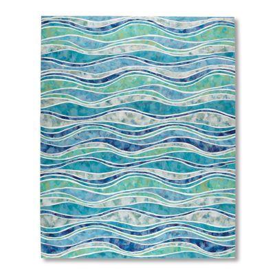 Ocean Wave Outdoor Rug from