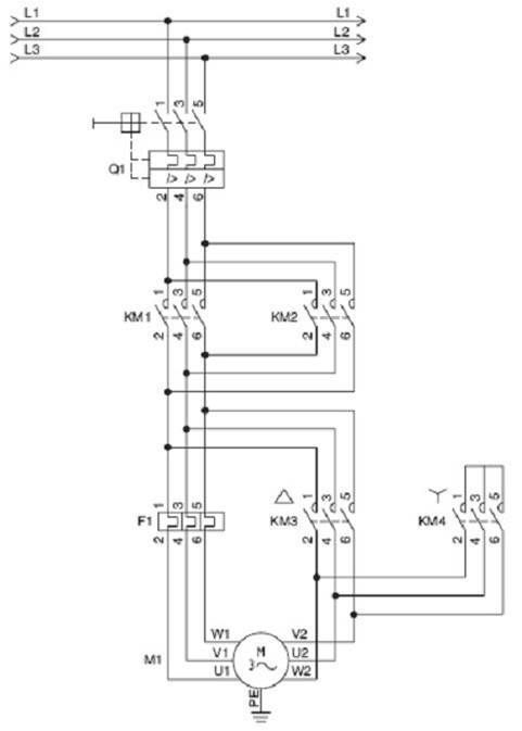 Arranque Estrella Triángulo Con Inversión De Giro Comandos Eletricos Automação Elétrica Eletricidade Basica