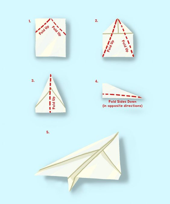 simple paper plane instructions | Kid's crafts - looks fun ...