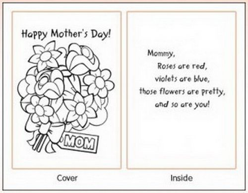 Image Result For Printable Mothers Day Cards To Color Mothers Day Card Template Mothers Day Coloring Pages Free Mothers Day Cards