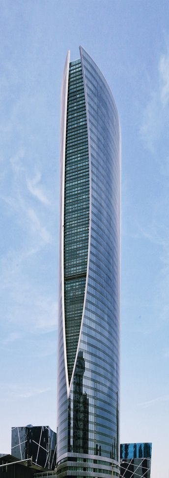 Qatar Navigation Tower, Doha, Qatar designed by MZ Architects :: 53 floors, height 209m [Future Architecture: http://futuristicnews.com/category/future-architecture/]