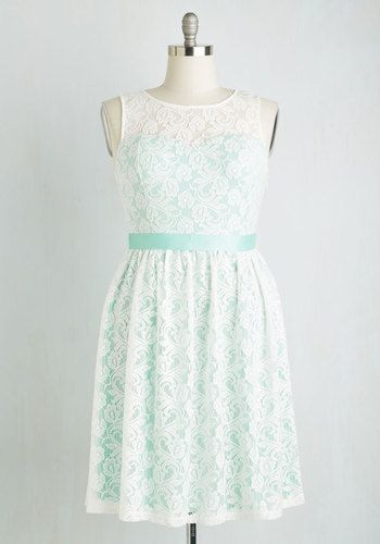 Lacy in Love Dress in Mint | Mod Retro Vintage Dresses | ModCloth.com
