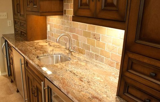 Granite tile accents