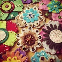 Embellished Felt Flowers