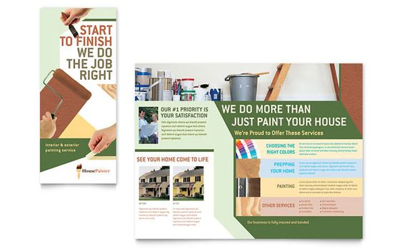 Painter and Painting Contractor Brochure Design Template by - microsoft word templates for brochures