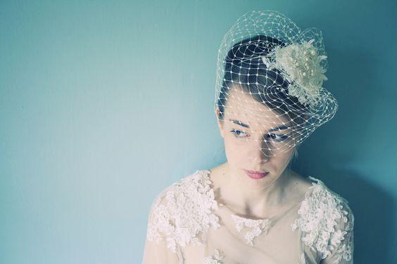 our birdcage veil