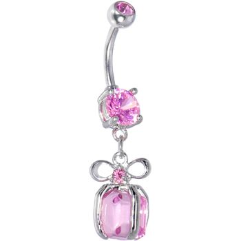 Passion Pink HOLIDAY PRESENT Belly Ring