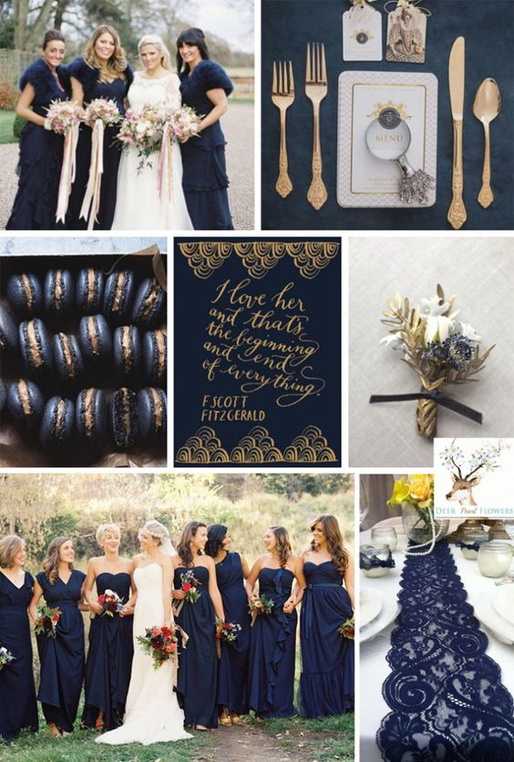 Reflecting Pond Dark Navy Wedding Colors