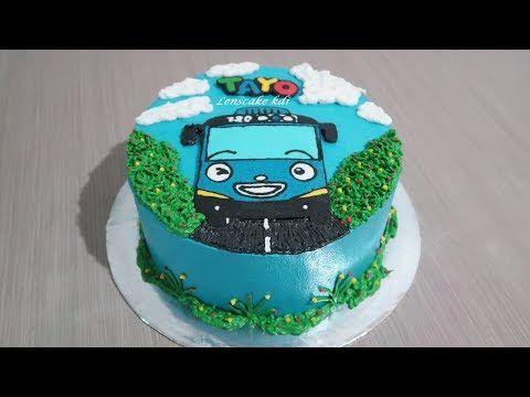 Hai Tayo Cara Membuat Kue Ulang Tahun Tayo Tart Cake
