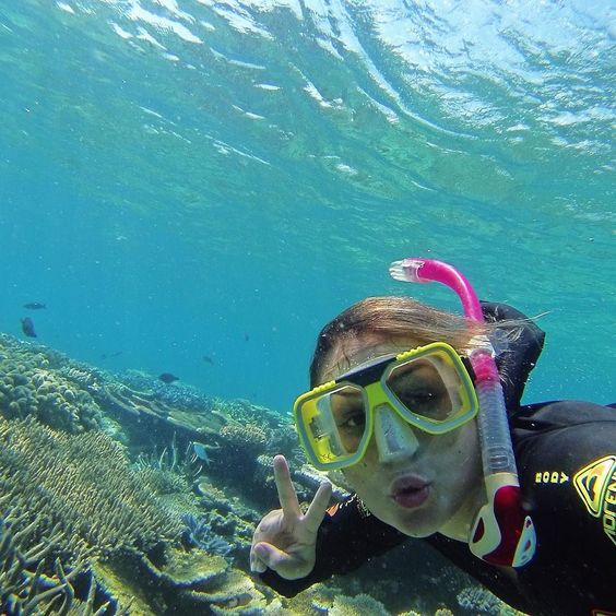 Fish face!  best trip ever!  #australia #paradise #portdouglas  #greatbarrierreef #gorpro #hero3 by gabi_mayer http://ift.tt/1UokkV2