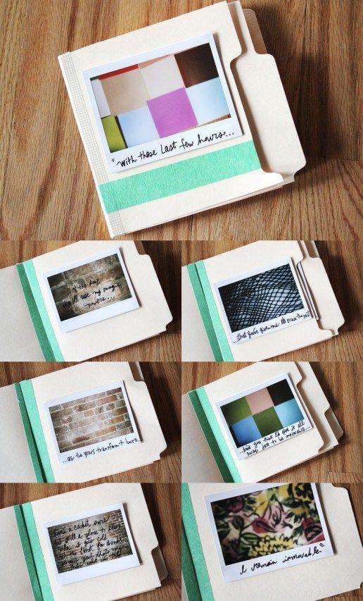 Polaroid Scrapbook Ideas Mini Albums Song Lyrics Scrapbook Diy On The To Do List Pinterest Diy Diy Scrapbook Mini Scrapbook Mini Albums