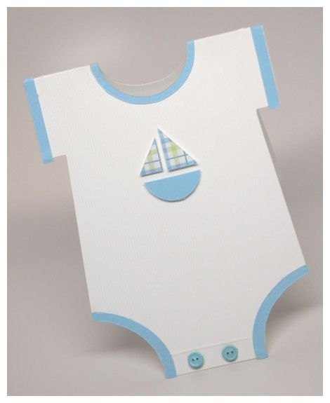 These cards made to look like onesies are just too cute! Card - baby shower card template