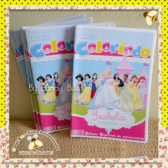 livro de colorir personalizado princesas disney - Pesquisa Google
