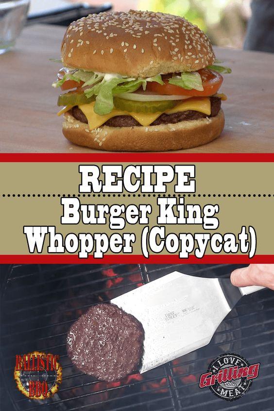 Burger King Whopper Recipe (Burger King Copycat)