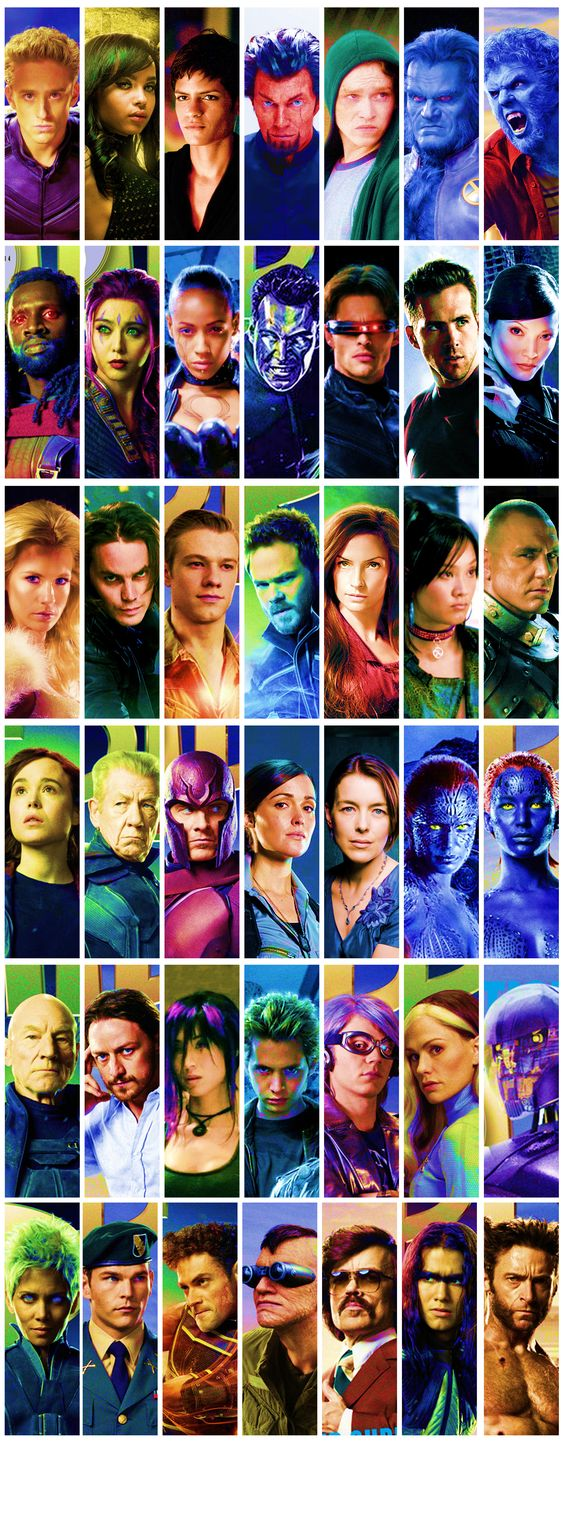 almost all the cast of x-men movies over the years