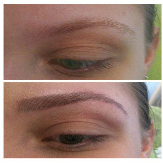 Permanent Make-up  Augenbrauen Härrchenzeichnung