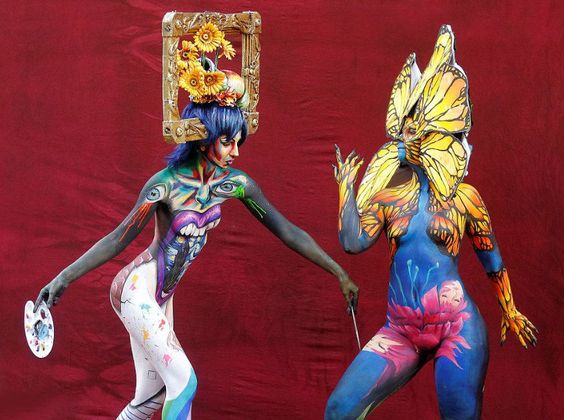 The world bodypainting festival in Pörtschach Austria is earth's biggest art…