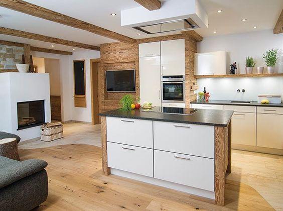 Küche Wenn Landhausstil auf Moderne trifft - Küchenhaus Thiemann - küche u form mit insel