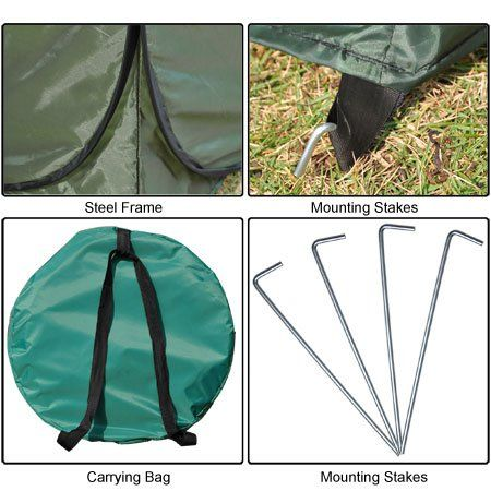 Amazon.com: Portable Changing Tent Camping Toilet Pop Up Room Privacy Shelter Outdoor Green