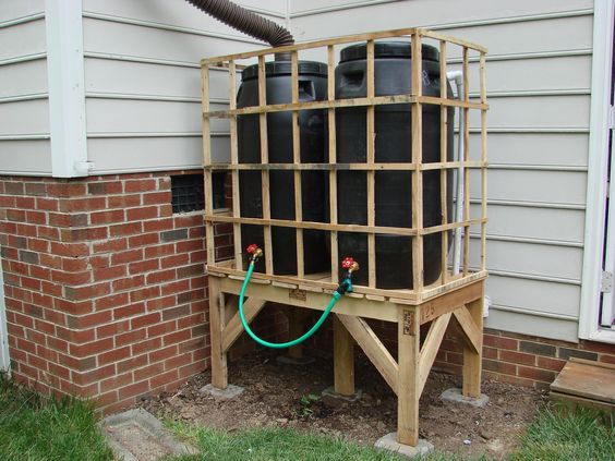 The city we live in is under year round water restrictions, so having a rain water collection system helps keep the garden growing while reducing stress on the city...