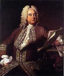 George Frideric Handel (German: Georg Friedrich Händel (23 February 1685 – 14 April 1759) - a German-British Baroque composer, famous for his operas, oratorios, anthems and organ concertos.