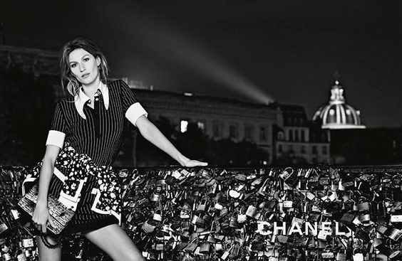 Gisele Bundchen - (black and white) Chanel S/S 2015 campaign for Karl Lagerfeld in Paris, 2015 (17)