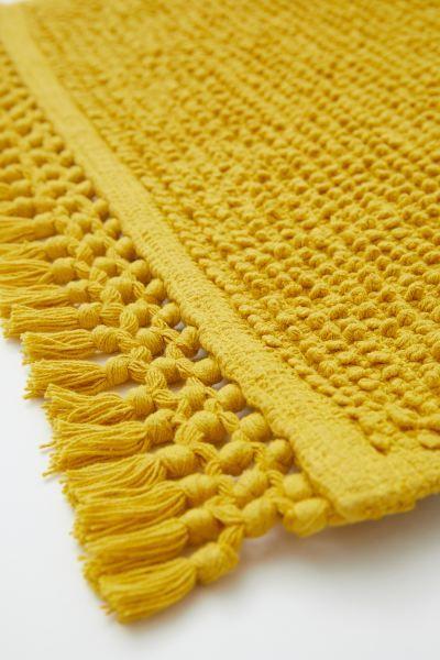 Textured Weave Bath Mat Mustard Yellow Home All H M Us Bathroom Rugs Yellow Bathroom Rugs Bath Rugs