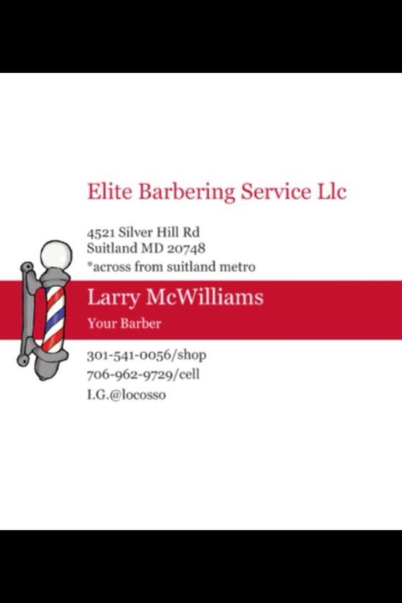 Elite Barbering Service 4521 Silver Hill Rd Suitland MD 20746