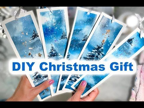 36 Diy Christmas Gift Ideas Painting Bookmarks In Watercolor