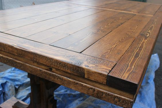 Handcrafted Farmhouse Dining Table Solid Wood by DamiansWoodWorks