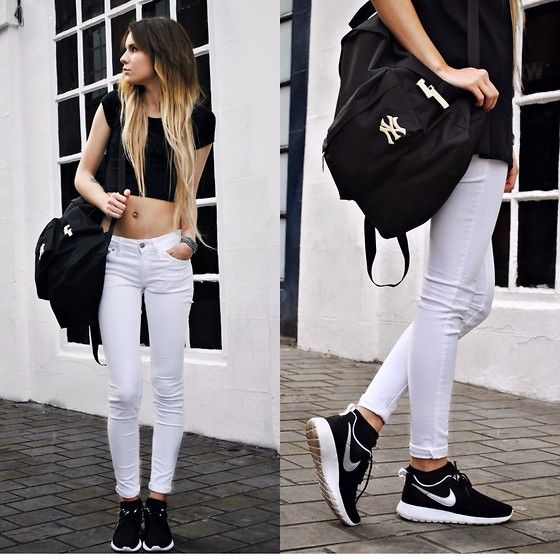 Claudia Michon - Primark Crop Top, New Era Bag, Mango White Jeans ...