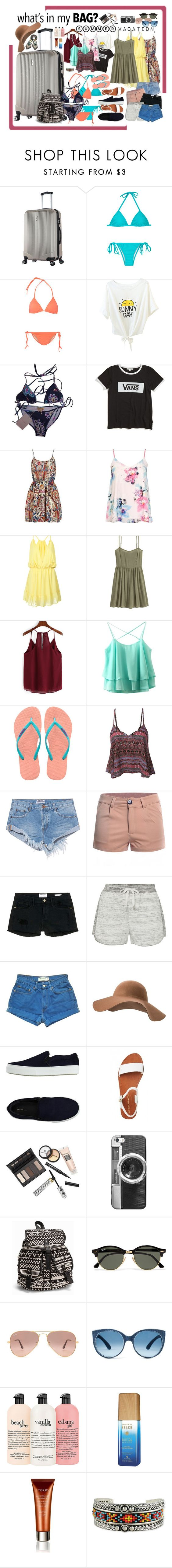 """Bez naslova #260"" by natasag ❤ liked on Polyvore featuring Tart, Emilio Pucci, Vans, Dorothy Perkins, WithChic, H&M, Havaianas, LE3NO, One Teaspoon and Frame Denim"