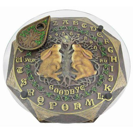 Lisa Parker `Moon Gazing Hares` Glass Top Ouija Board Witch Pagan - Walmart.com