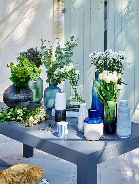 Green Habitat Sublimez Vos Interieurs En Collectionnant Les Vases Et Soliflores Sweet Home With Green And Natural Inspirati Vases Fleurs Artificielles Deco