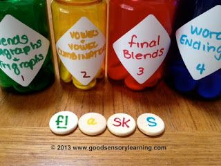 Learning Specialist and Teacher Materials - Good Sensory Learning: Learning Center Ideas: Free, Fun Phonics Activities